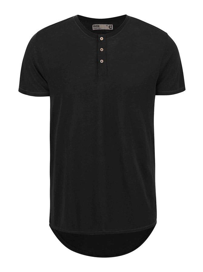 Černé triko s knoflíčky !Solid Barron