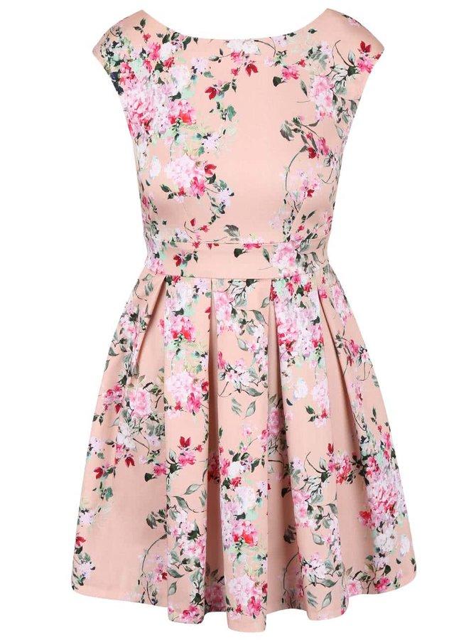 Růžové květované šaty Closet