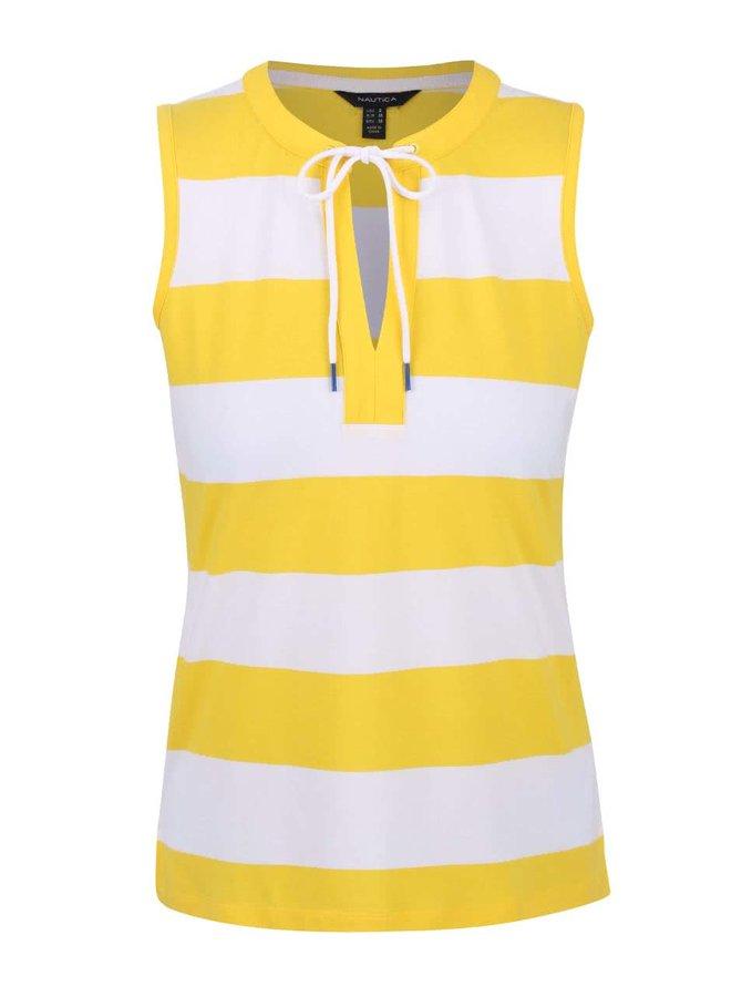 Bielo-žlté dámske pruhované tielko Nautica