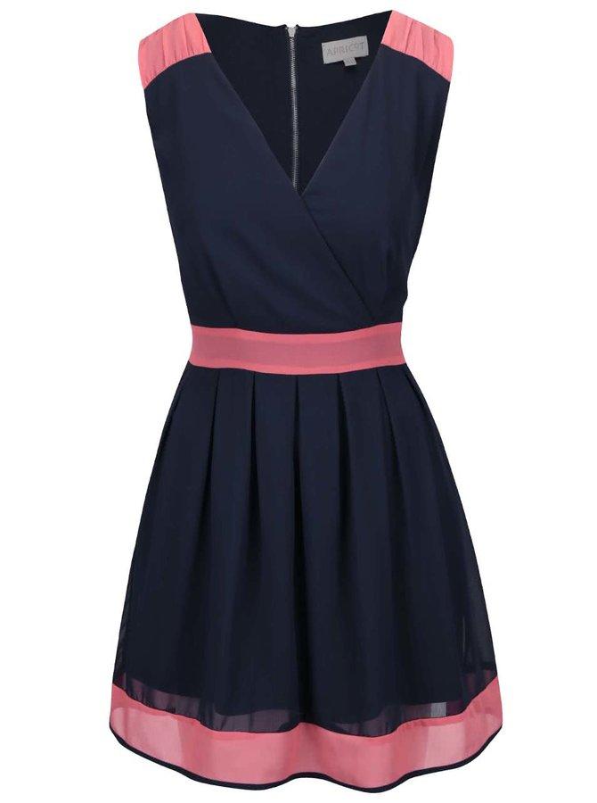 Tmavě modré šaty s korálovými detaily Apricot