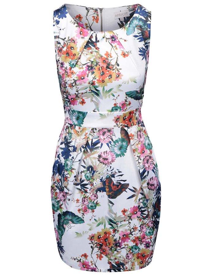 Bílé šaty s barevnými květy Apricot