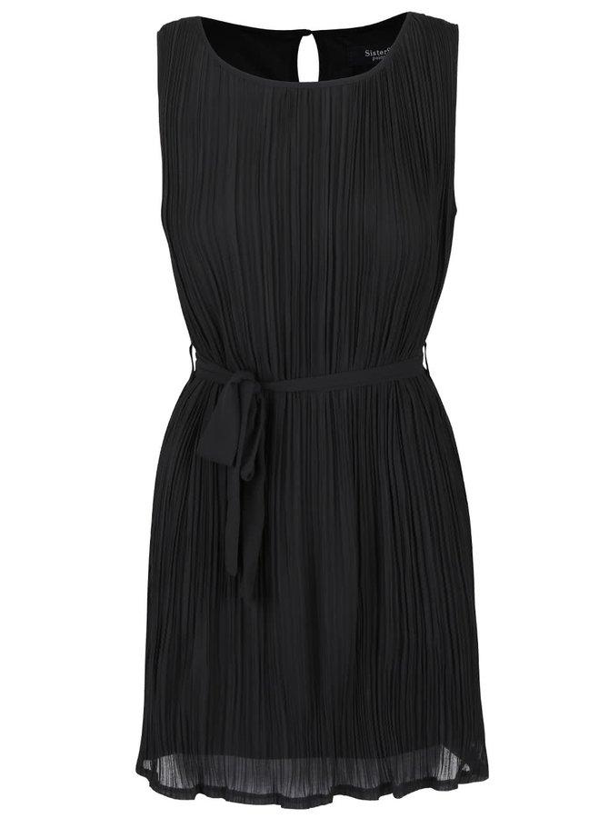 Čierne plisované šaty SisterS Point Ejner