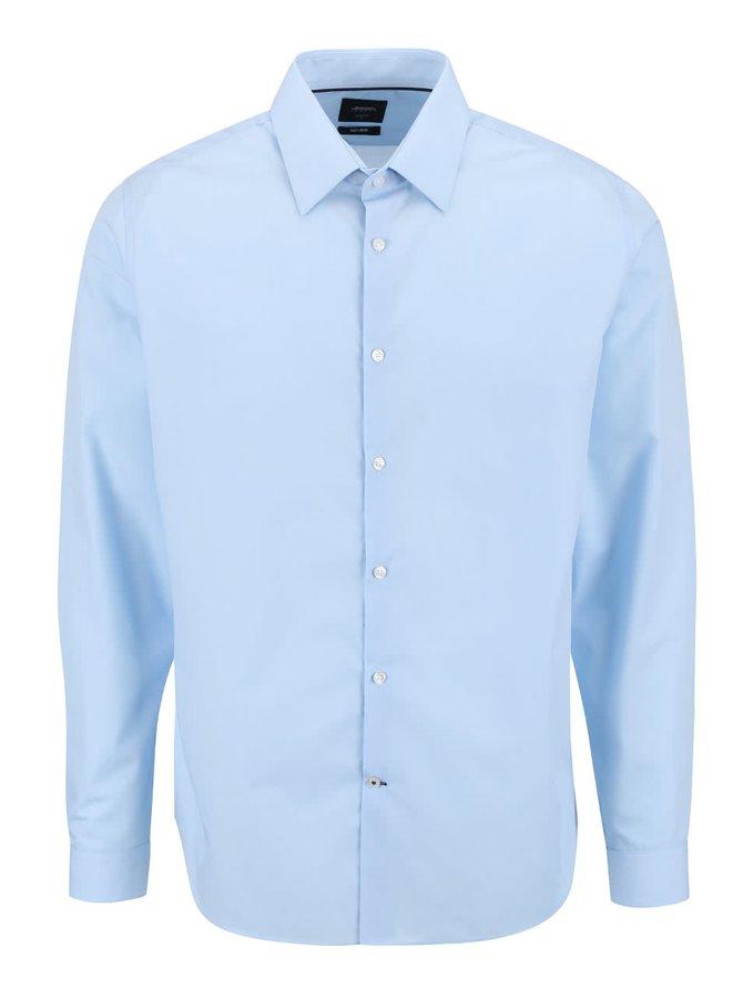 Svetlomodrá formálna slim fit košeľa Burton Menswear London