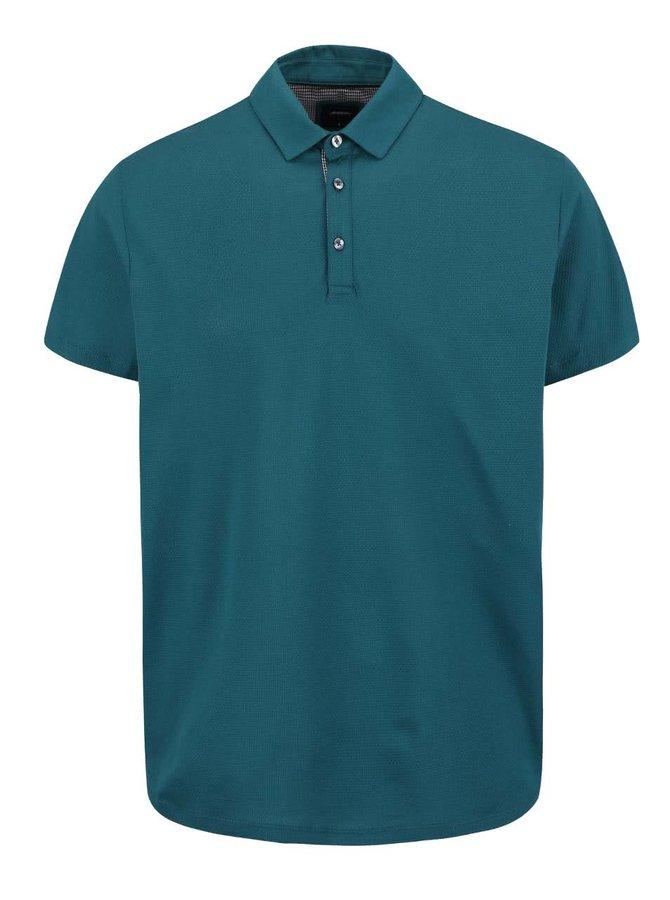 Zelené vzorované polo triko Burton Menswear London