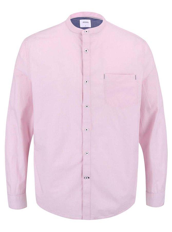Světle růžová košile s modrými detaily Burton Menswear London