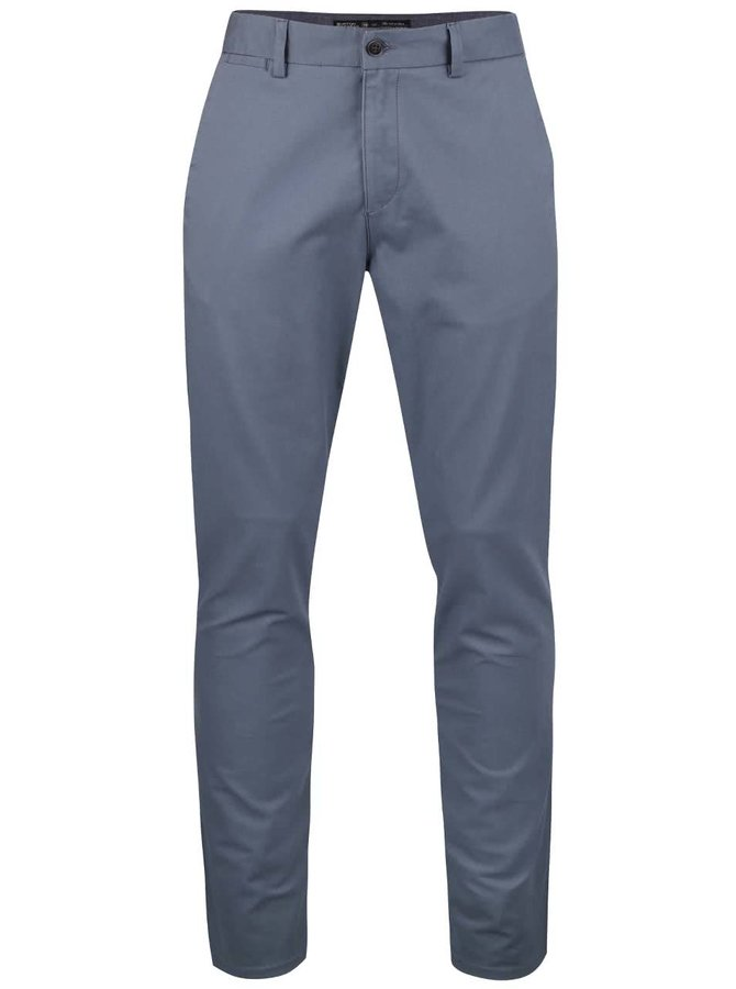 Pantaloni chino Burton Menswear London gri-albaștri