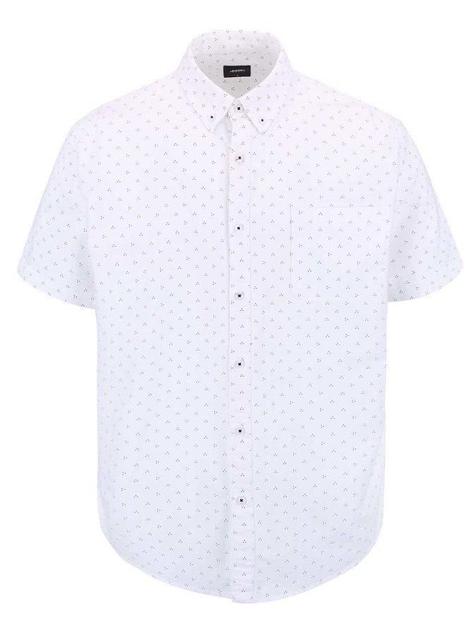 Biela košeľa s drobným vzorom Burton Menswear London