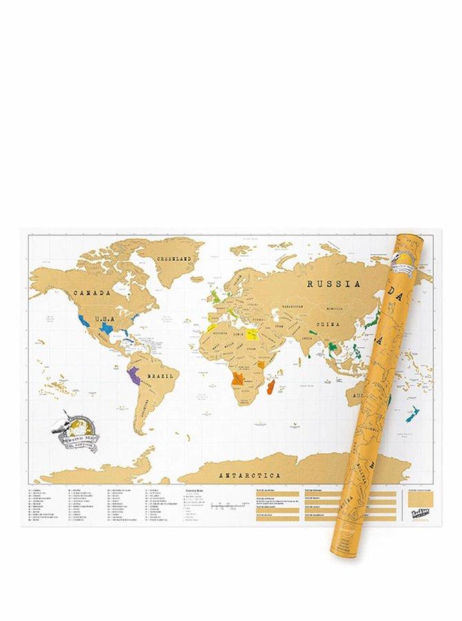 Veľká stieracia mapa Luckies XL Edition