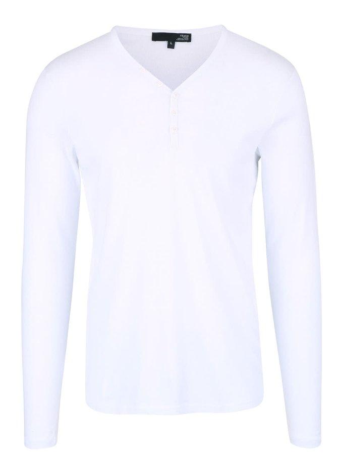 Biele tričko s dlhým rukávom !Solid Philip