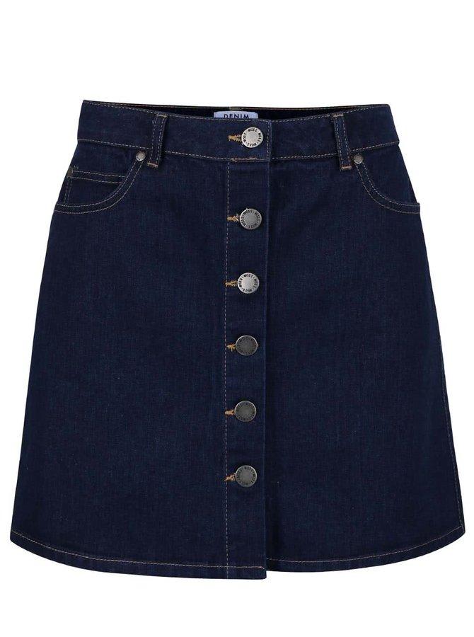 Tmavomodrá rifľová sukňa Miss Selfridge