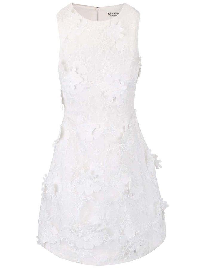 Rochie albă fără mâneci Miss Selfridge cu aplicații florale
