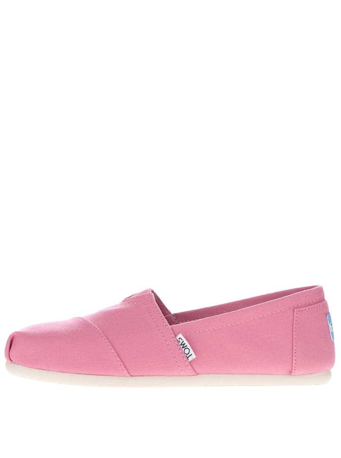 Světle růžové dámské loafers Toms