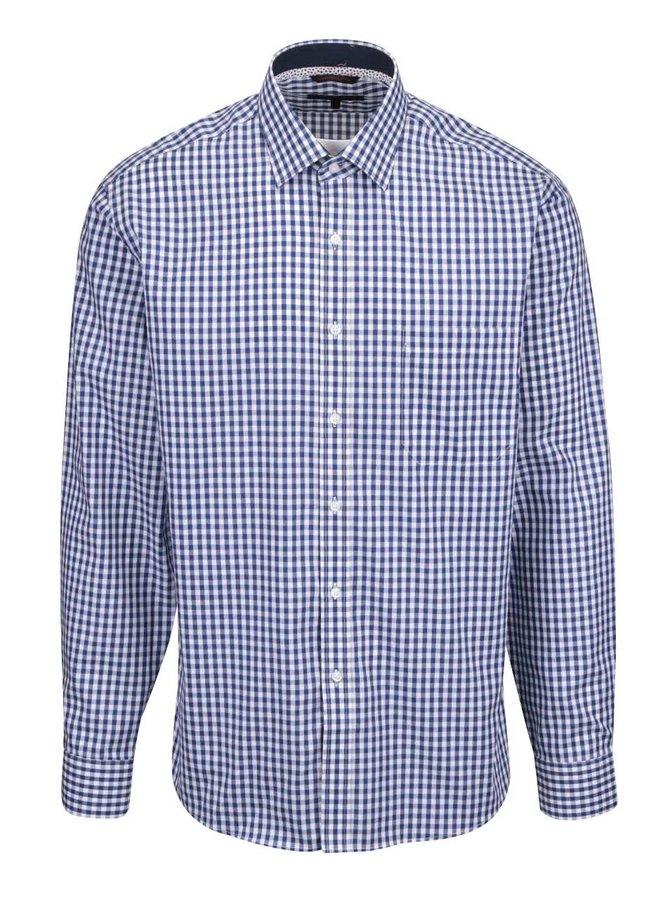 Modro-biela károvaná košeľa Seven Seas