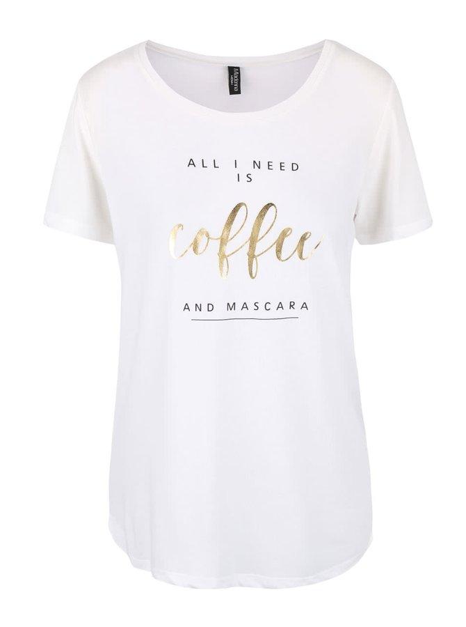 Krémové tričko s nápisem Madonna