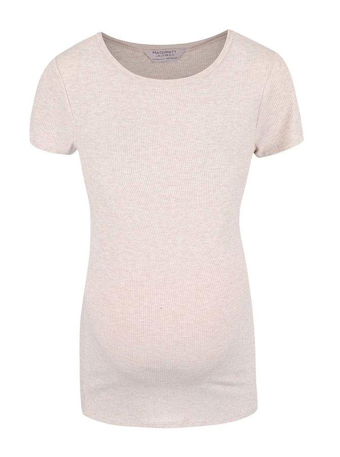 Svetloružové melírované tehotenské tričko Dorothy Perkins Maternity