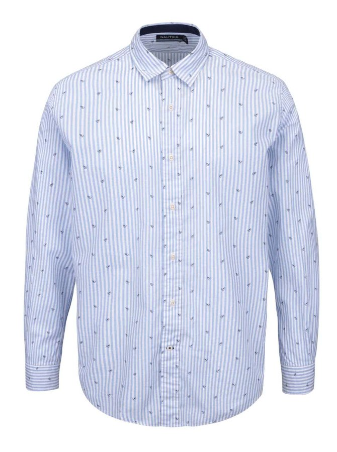 Světle modrá pánská pruhovaná košile se vzorem Nautica