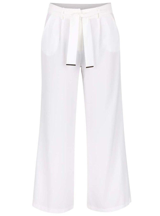 Krémové voľné nohavice s opaskom Dorothy Perkins