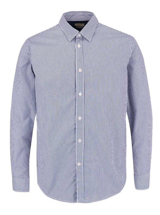 Modro-bílá pruhovaná slim fit košile Selected Homme Filson
