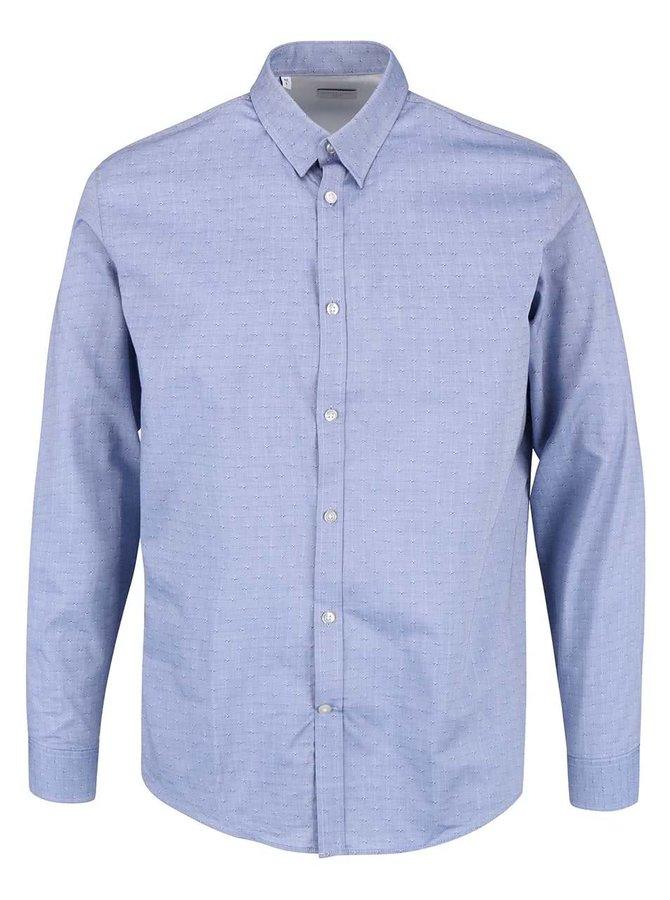 Modrá košeľa s jemným vzorom Selected Homme Christina