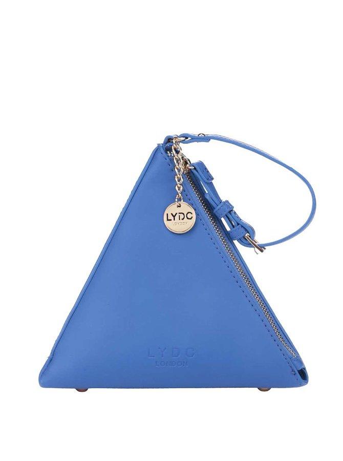 Modrá listová kabelka v tvare ihlanu LYDC
