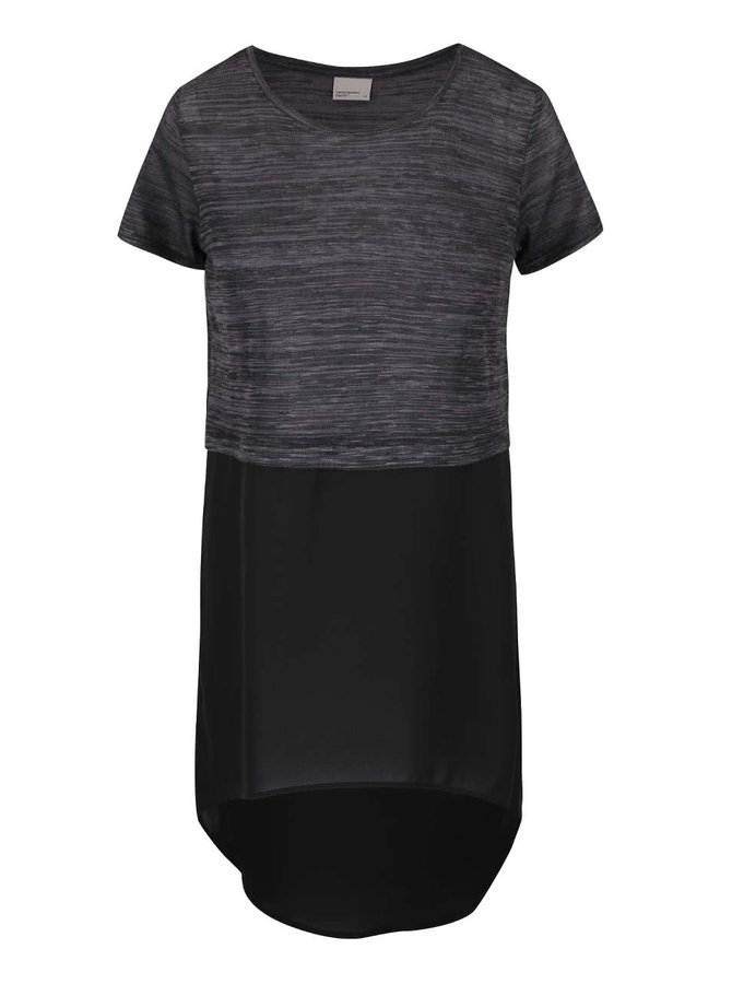 Tricou negru cu gri lung VERO MODA Juca