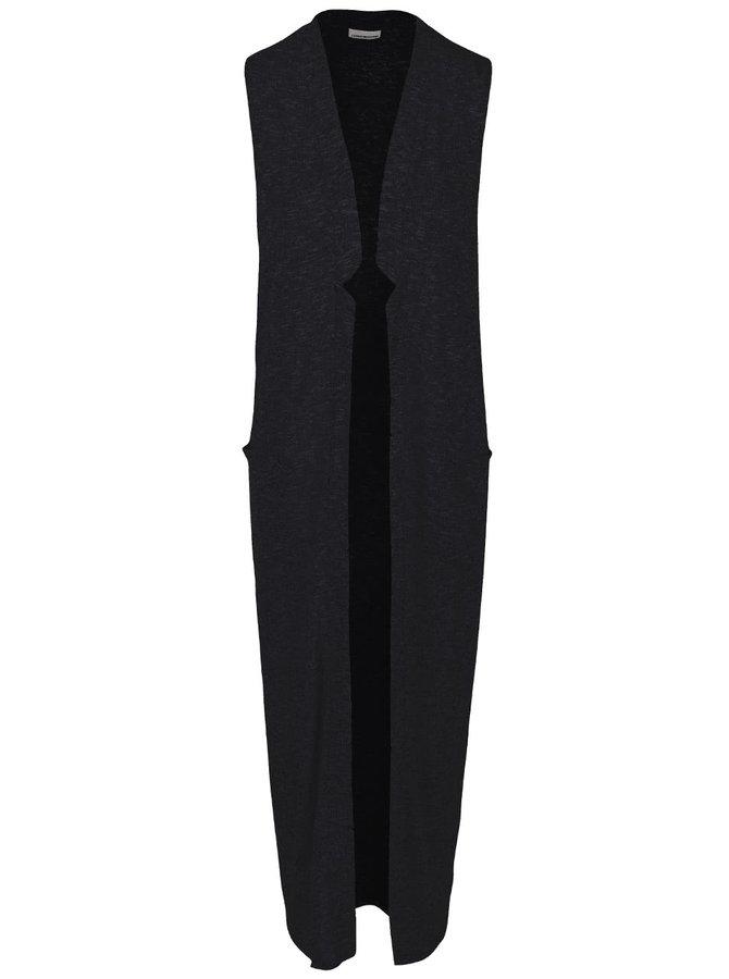 Černá dlouhá cardigan vesta Noisy May Evita