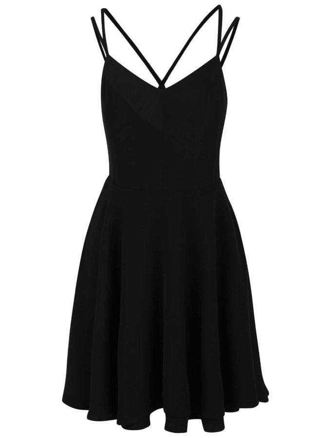 Čierne šaty s tenkými ramienkami Vero Moda Wanda