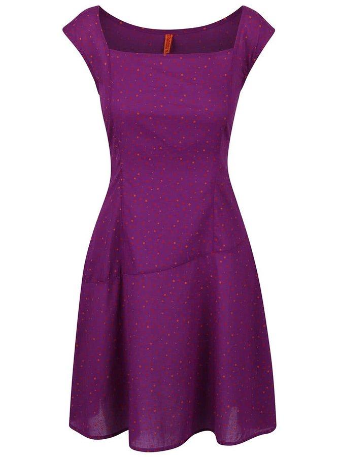 Fialové šaty s puntíky Tranquillo Terra