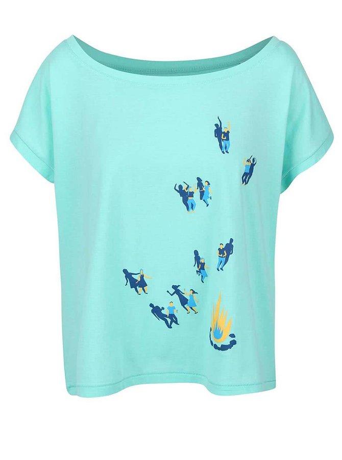 Mentolové dámské volnější tričko ZOOT Originál Tanečky