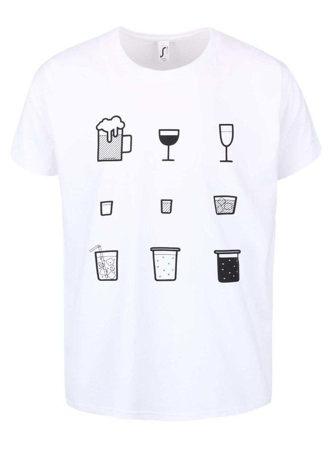 Tricou bărbați ZOOT Originál Drinks alb
