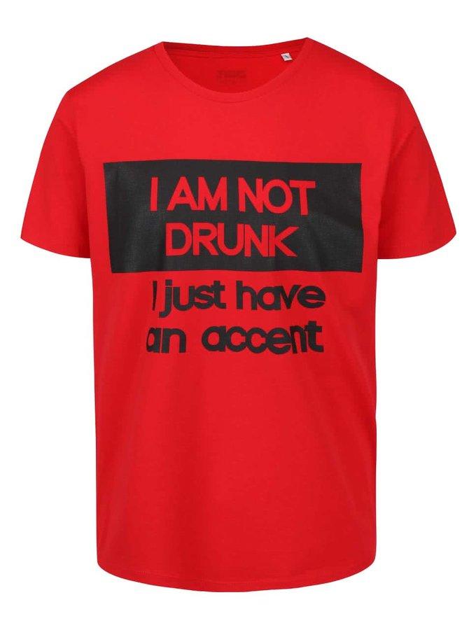 Červené pánské triko ZOOT Originál Drunk