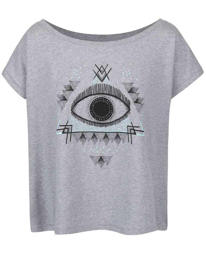Sivé dámske voľnejšie tričko ZOOT Originál Oko