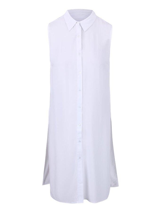 Bílá dlouhá halenka  bez rukávů Haily´s Elora