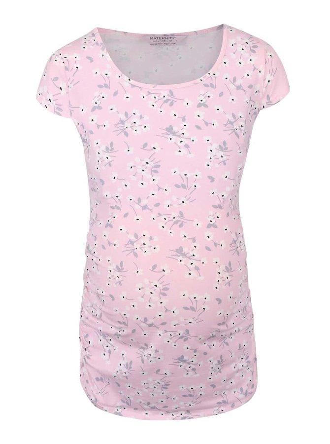 Tricou Dorothy Perkins Maternity roz cu imprimeu