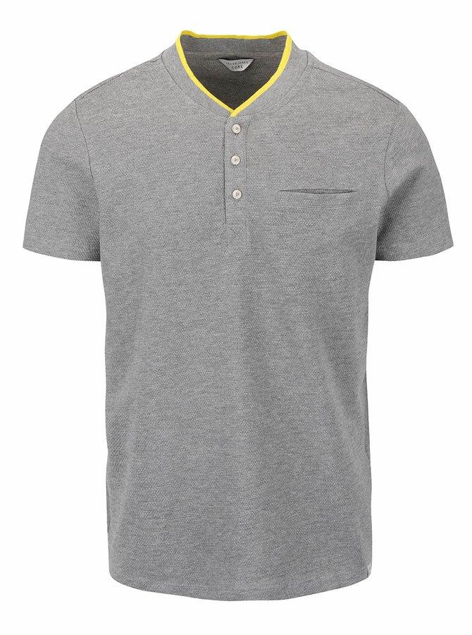 Svetlosivé tričko Jack & Jones Tip