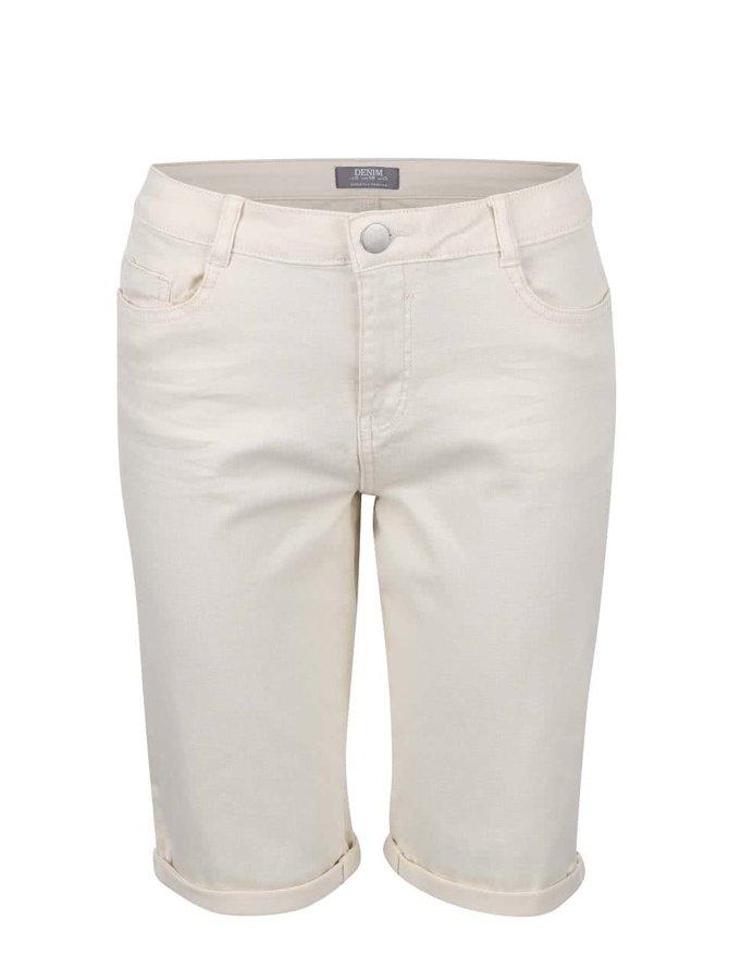 Krémové šortky nad kolená Dorothy Perkins