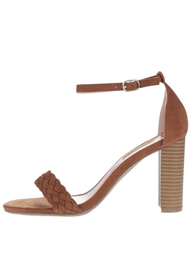 Sandale cu toc Dorothy Perkins maro