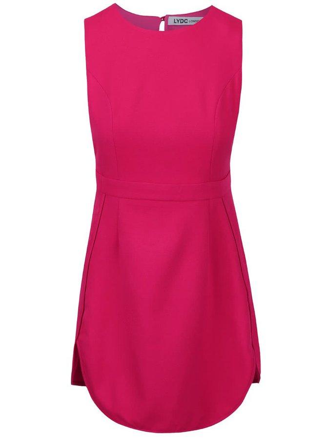 Sytě růžové šaty s výstřihem na zádech LYDC