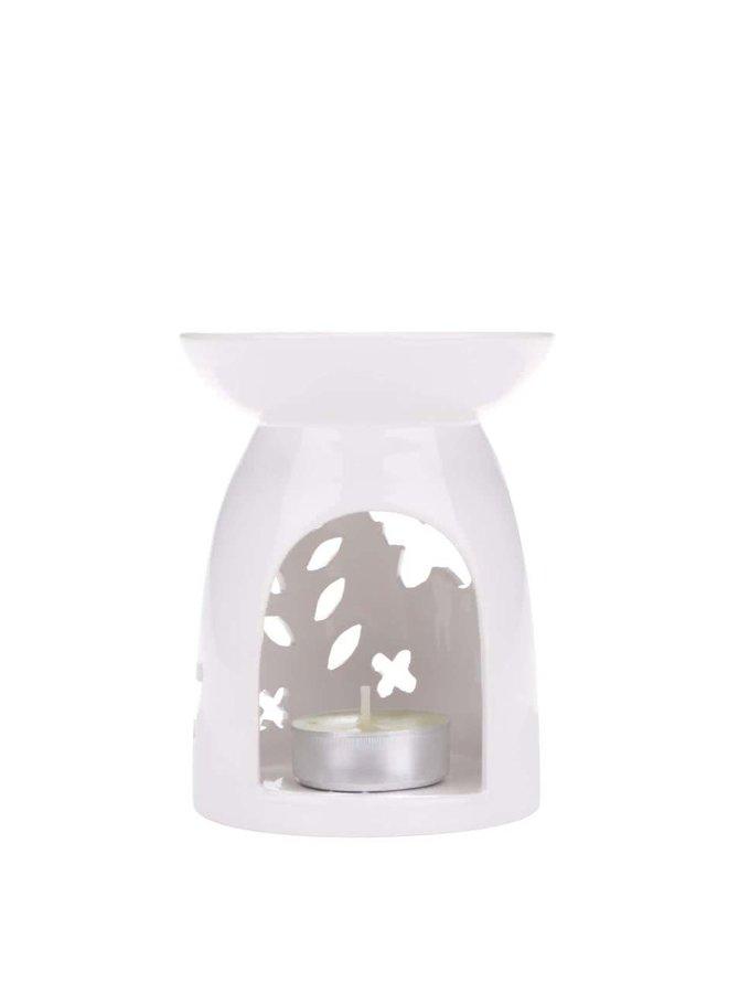 Bílá aromalampa s motýlky Dakls