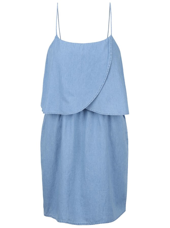 Modré rifľové šaty ONLY Nova