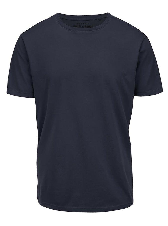Tmavě modré triko ONLY & SONS Kanta