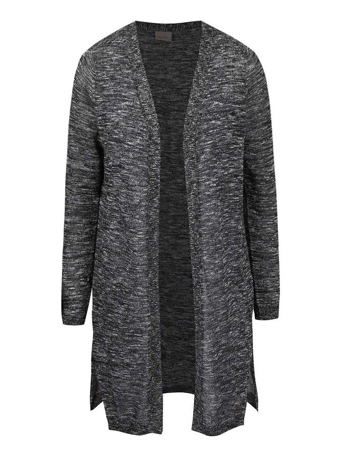 Černý žíhaný cardigan Vero Moda Blacke