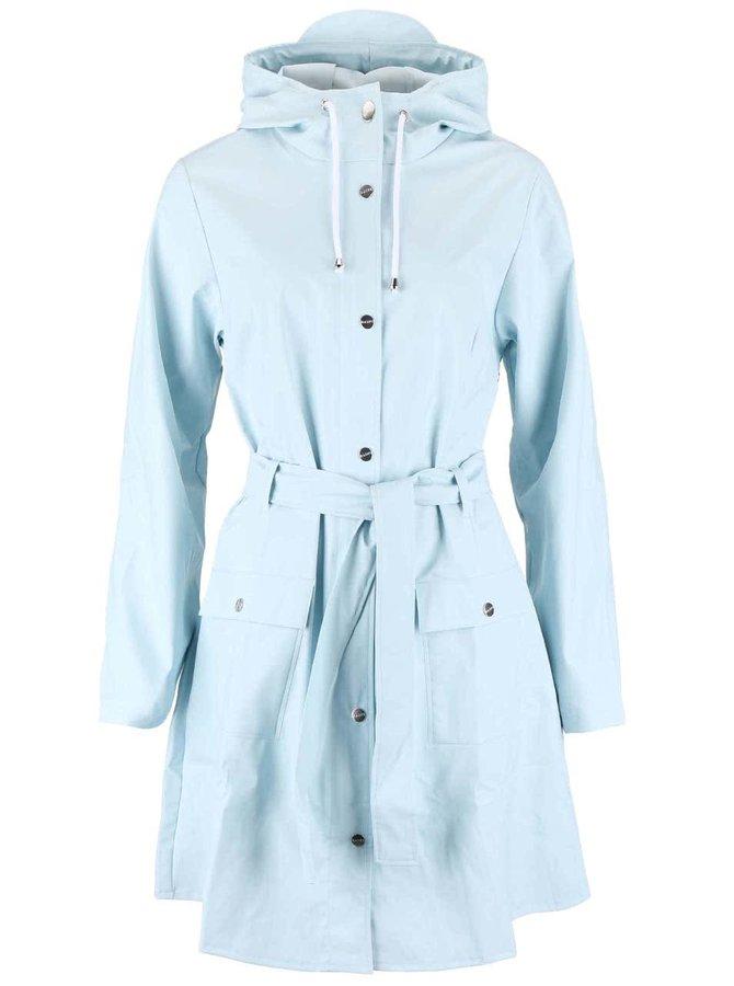 Svetlomodrý dámsky nepremokavý kabát RAINS