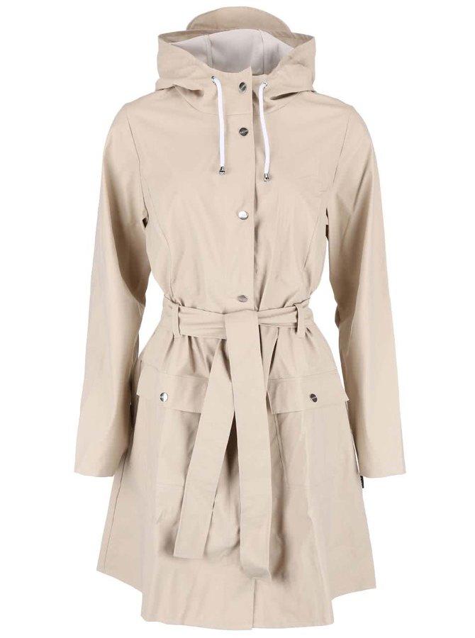 Béžový dámsky nepremokavý kabát RAINS