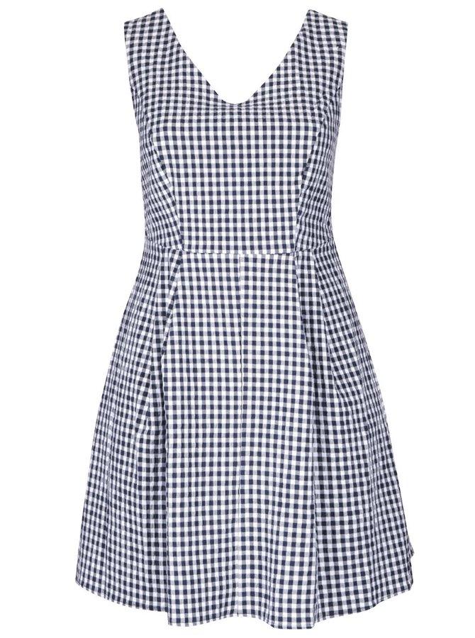 Modro-biele vzorované šaty Dorothy Perkins Curve