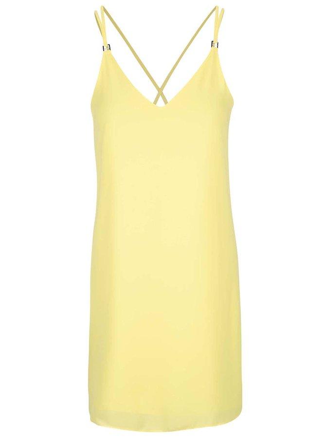 Žluté šaty na ramínka Dorothy Perkins