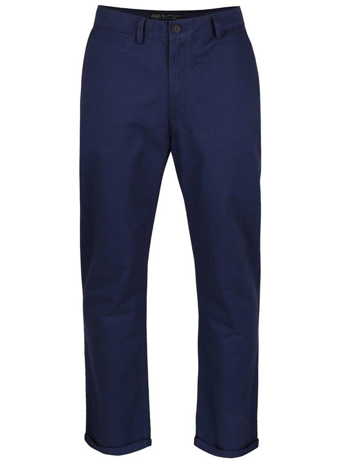 Tmavomodré slim chino nohavice Burton Menswear London