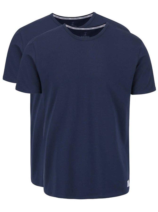 Set 2 tricouri albastru închis Calvin Klein slim fit pentru bărbați