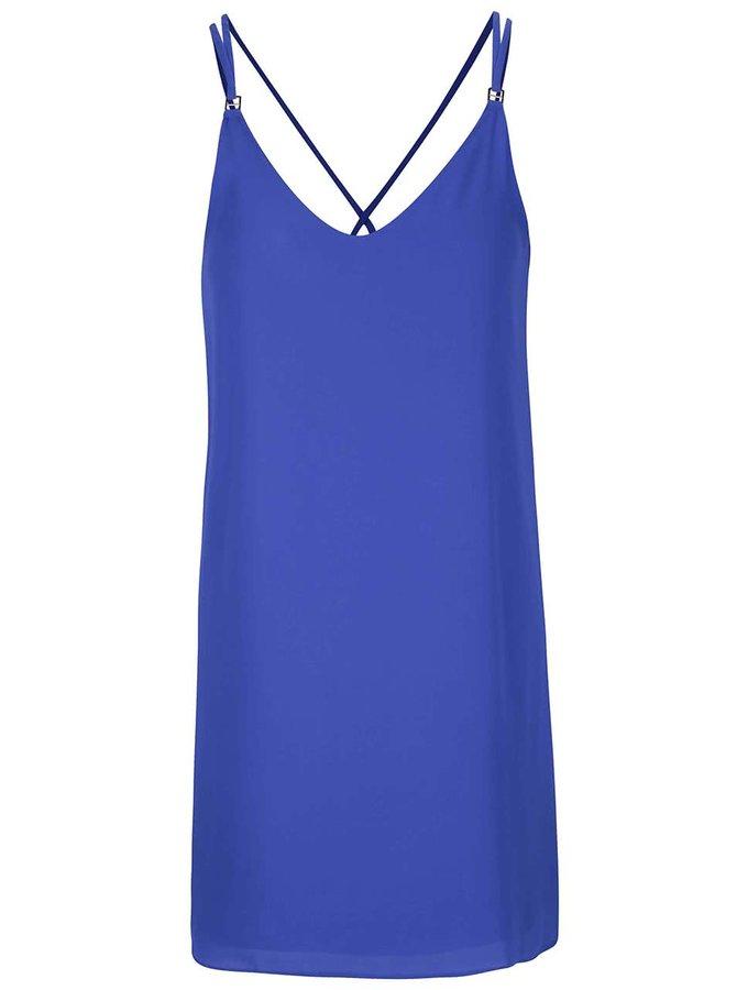 Modré šaty na ramienka Dorothy Perkins