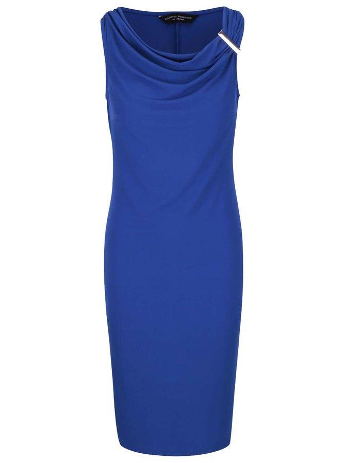 Modré šaty s ozdobnou sponou Dorothy Perkins
